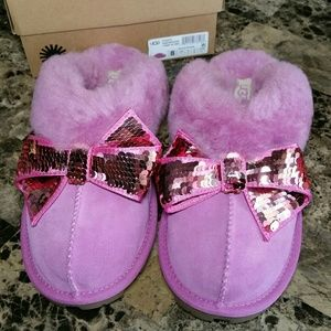UGG Coquette Sequin Hot Pink Slippers NEW Size 8